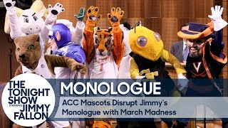 ACC Mascots Disrupt Jimmy's Monologue with March Madness