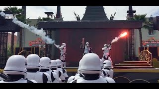 Captain Phasma leads her First Order Storm Troopers (Disney Show HD) - Disney Hollywood Studios Show