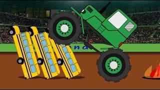 Monster Truck Stunts Tractor Puzzle - Traktorek