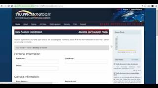 Traffic Monsoon - How to register under your sponsor's referral link