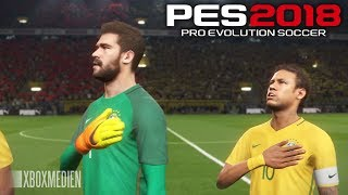 PES 2018 Official Gameplay Brazil vs Liverpool +Player FACES (Xbox One, PS4, PC) HD