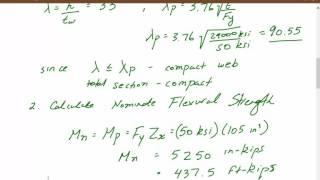 Structural steel engineering design & analysis of beam members using ASD and LRFD Tutorial 3