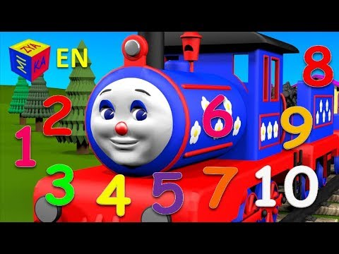 Learn to count to 10 with Choo-Choo Train. Educational cartoon for children (toddlers)
