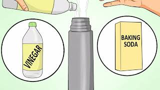How to Clean a Vacuum Thermosflask That Has Stains at the Bottom
