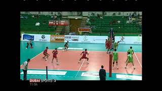 Iran egypt volleyball dubai volley sheykh rashied mohammad fattahi libero emarat volleyball attack