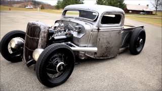1935 1936 FORD PICKUP TRUCK SCTA BARE BONES / BARE METAL HOT ROD RAT TRADITIONAL ROD