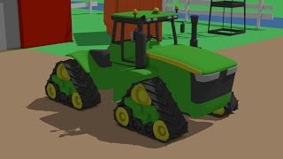 Great Tractor for Kids - Formation and uses | fairy tales | Traktor animacje - konstrukcja