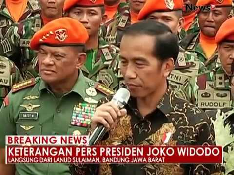 Yel-yel Paskhas TNI AU menyambut Presiden Jokowi - iNews Breaking News 15/11
