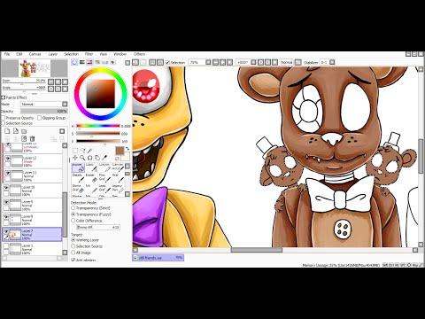 Фнаф нарисованные на компьютере