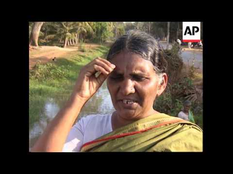 INDIA: AMALAPURAM: HUGE GAS FIRE STILL BURNING