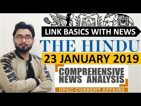 Xxx Mp4 23 JANUARY 2019 The HINDU NEWSPAPER ANALYSIS TODAY In Hindi हिंदी में News Current Affairs IQ 3gp Sex