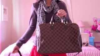 Louis Vuitton Bag Comparison Speedy 30 vs. Speedy 35 with a strap