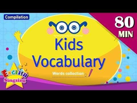Kids vocabulary compilation - Words Theme collection English educational video for kids