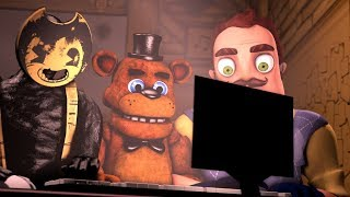 Bendy Neighbor Boris And Freddy React to Bumper Car Movie Bendy And The Ink machine Chapter 3 Movie