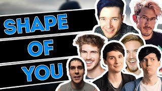 7 YOUTUBERS SING 1 SONG!! ED SHEERAN SHAPE OF YOU