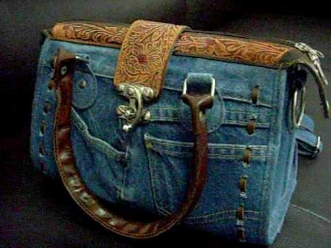 Hard to find Jeans and Leather LADIES HANDBAG V1