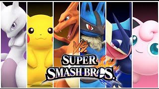 Super Smash Bros Wii U Mewtwo Pokemon Battle