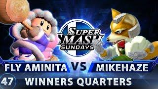 SSS 47 - Fly Amanita (Ice Climbers) vs. MikeHaze (Fox) - SSBM Top 32 Winners Quarters - Smash Melee