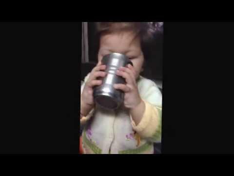 Mazza Girl , yummmlicious NaughtyyBaby enjoying her mazza drink till last sip of it .So cute