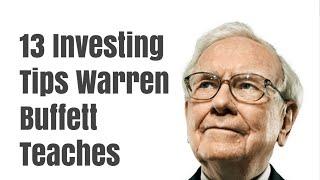 13 Investing Tips Warren Buffett Teaches