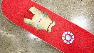 The Iron Man Skateboard Setup! / RAD GRIPTAPE ART!