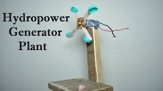 How to Make Hydro power Generator Plant Working Model for School Project | Water Turbine Dam at Home