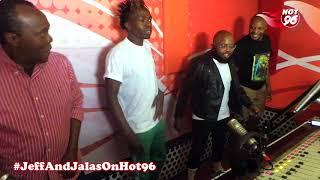 Jeff, Jalas, Moji Shortbabaa and Jabidii dancing to Vimbada