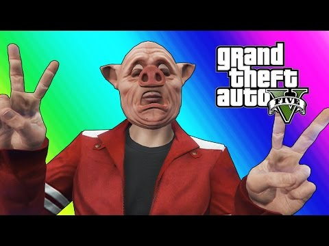 GTA 5 Online Funny Moments - Body Glitch & Bald Piggy!