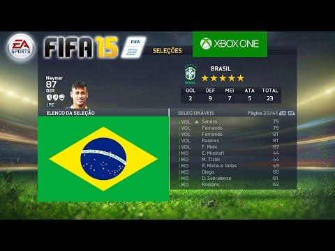 FIFA 15 Modo Carreira 2ª Temp. Primeira Convocação Seleção Brasileira 23 Xbox One