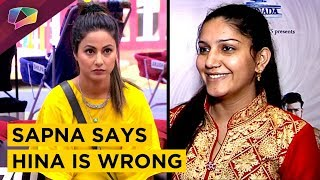 Sapna Chaudhary Says Hina Khan Is Wrong   Exclusive Interview On Her New Song