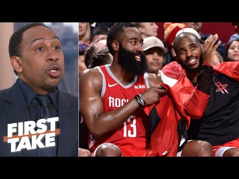 Stephen A. will blame Chris Paul if the Rockets don't win the NBA Finals First Take