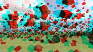 Gmod Mass Physics in 3D Anaglyph : Boxes nuked in Slowmotion (Watch in HD 1080p)