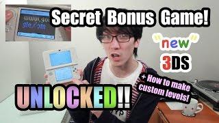 New 3DS SECRET BONUS Game + How to make Custom Levels!