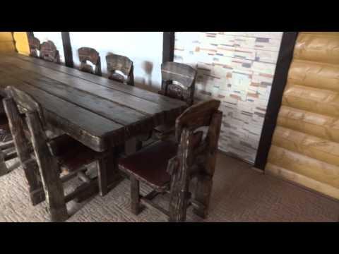 Деревянные столы под старину своими руками 15