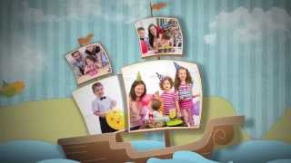 Happy Birthday Baby Photo Album - Boy Version - After Effects Royalty Free Template