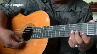 Belajar gitar melodi keroncong engkel ke dobel