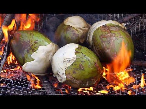 Coconut Chicken Cooking Chicken In green Coconut In My Village Healthy Chilli Chicken Recipes