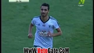 """""""احمد شكرى"""" يتقدم بالهدف الثالث لـ المصرى فى طنطا"""