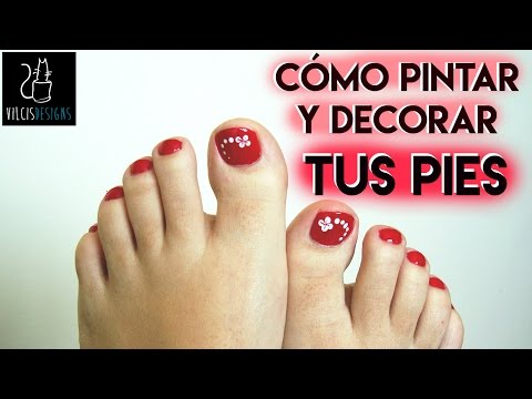 Cómo pintarse las uñas de los pies rojo How to paint your toenails red