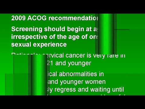 Cervical cancer screening and management of abnormal PAP smears
