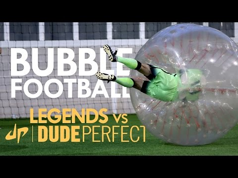BUBBLE FOOTBALL Manchester City Legends v The Dudes