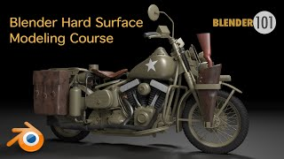 Captain America's Motorcycle: Blender Modeling Course
