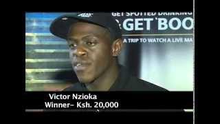 Guinness Get 'Booked' Ksh. 20,000 Winner Victor Nzioka
