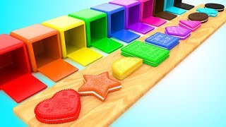 Learn Colors & Shapes for Children with Color Biscuits Shapes 3D Kids Baby Learning Educational