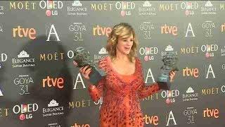Emma Suárez tras su doblete en los Goya: No doy crédito