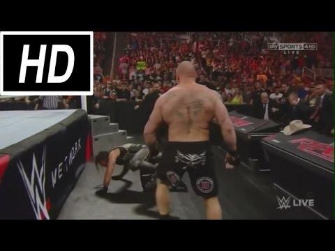 SHOCKING! Brock Lesnar DESTROYS Seth Rollins RAW: WWE Monday Night Raw 3/30/15 - March 30 2015 [HD]