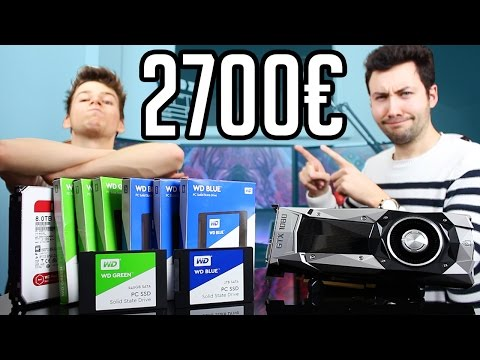 Test GTX 1080 NVIDIA, SSD WD 1To Blue et 240GB Green !