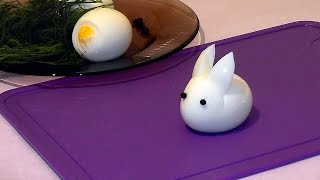 How to make a hare (a rabbit) ♡ using an egg