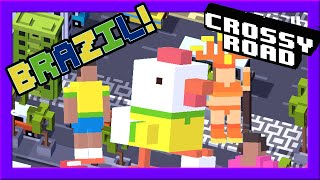 CROSSY ROAD BRAZIL Update! | NEW Secret Character & 12 Brazilian Characters | Carnival Gameplay 2016