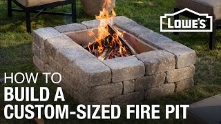 How To Build a Custom-Sized Fire Pit